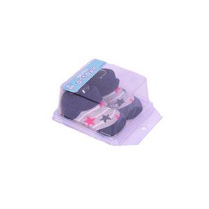 APOLLO sokjes little star marine grijs met roze ster giftbox! Newborn