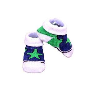 APOLLO sokjes Stars marineblauw met groen giftbox! Newborn