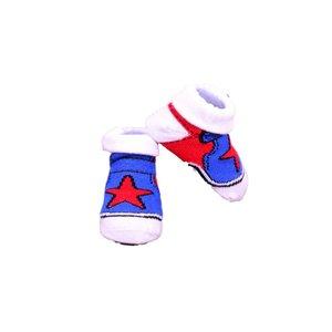 APOLLO sokjes Stars blauw met rood giftbox! Newborn