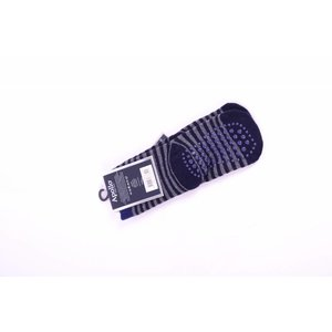 APOLLO anti-slipsokken grijs met marineblauw