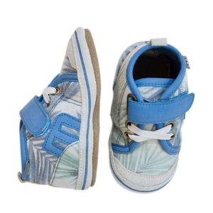 MELTON leren baby schoentjes blauw jungle style