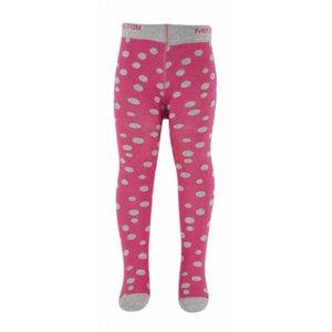 MELTON maillots fuchsia roze met grijze stippen