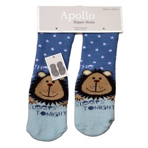 APOLLO anti-slipsokken blauw met babyblauw