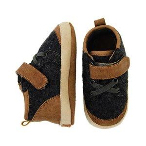 MELTON leren - suede sneakers brown grey