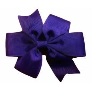 haarspeldje met strik paars