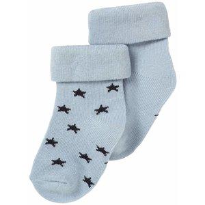 NOPPIES NOS texas sokjes grey blue bundel van 2 waarvan 1 met sterretjes