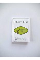 . Insecten speldjes  RVS maat 0