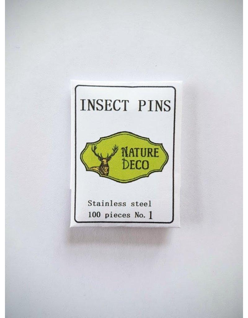 . Insecten speldjes  RVS maat 1