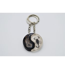 . Insects keychain Yin-Yang