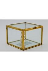 . Display box gold  medium 8x8x6 cm (LxWxH)