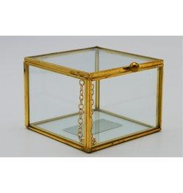 . Vitrine box goud medium