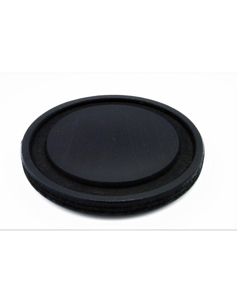 . Black glass dome 21x21x26 cm (LxWxH)