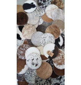 . Cow hide coasters