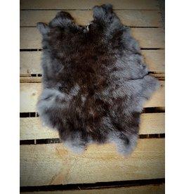 . Rabbit skin Black-brown