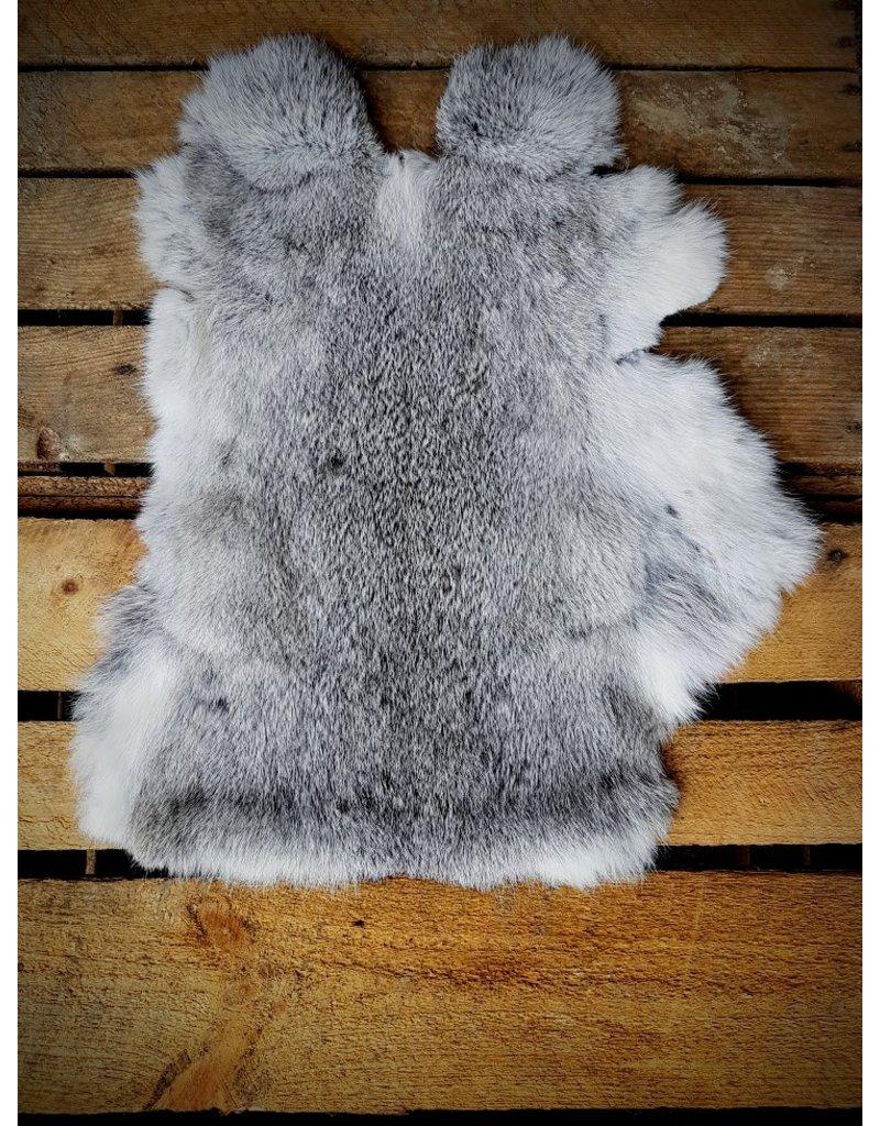 . Konijnenvacht wildkleur grijs