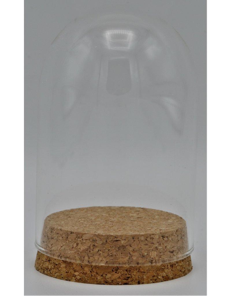 . Glass dome small cork 10 x 6,5cm
