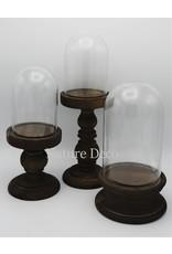 . Glass dome pedestal long