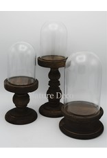 . Glass dome on pedestal