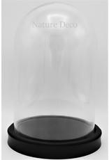 . Glass dome black medium