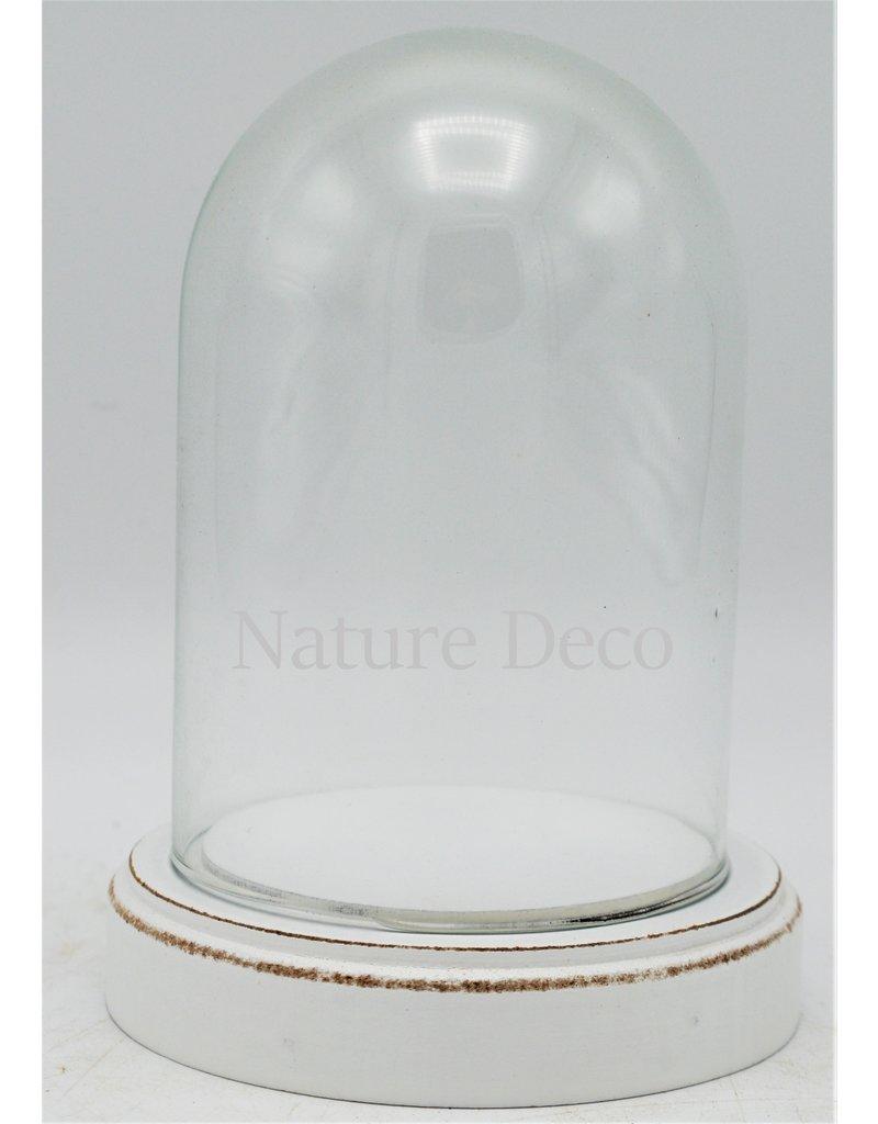 . Glass dome small white