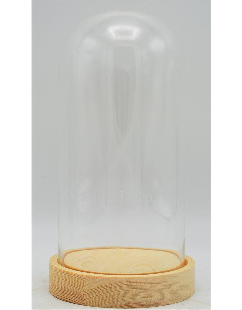 . Glass dome small blanco