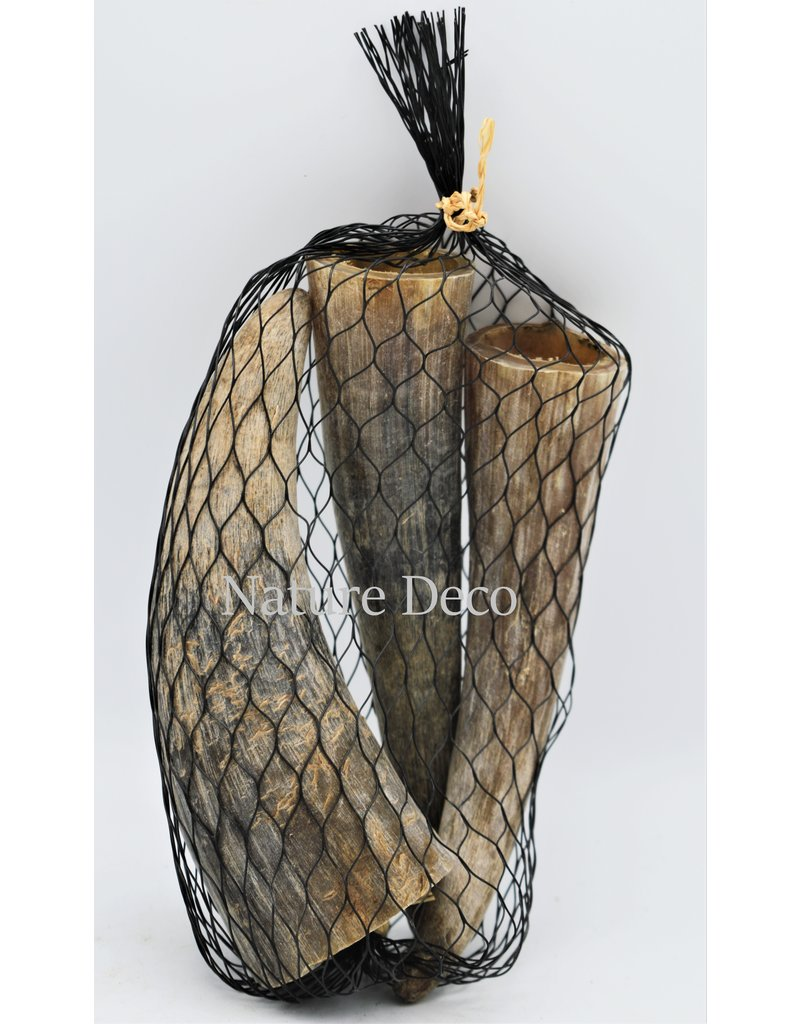 . Bag with cow horns 3 pieces