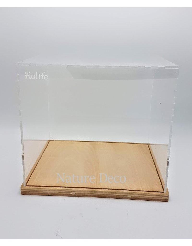 . Plexiglas overkapping / dust cover 24,6 x 20,2 x 21,6cm