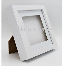 Nature Deco Luxury 3D frame medium white