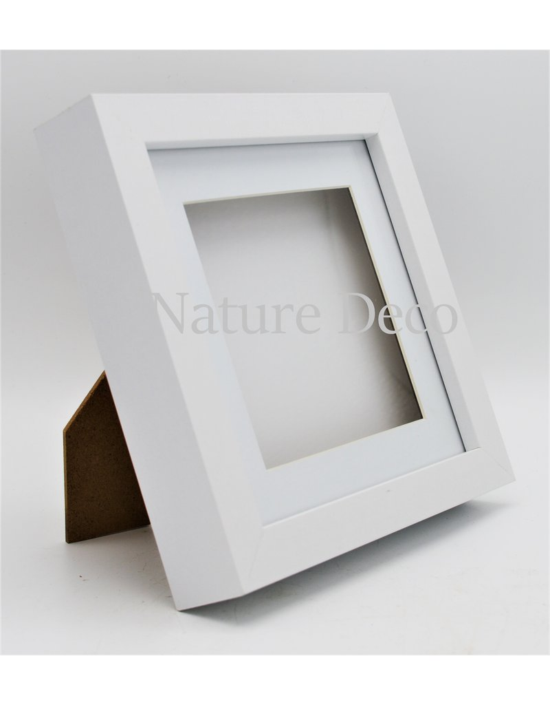 Nature Deco Luxury 3D frame medium white 17x17cm