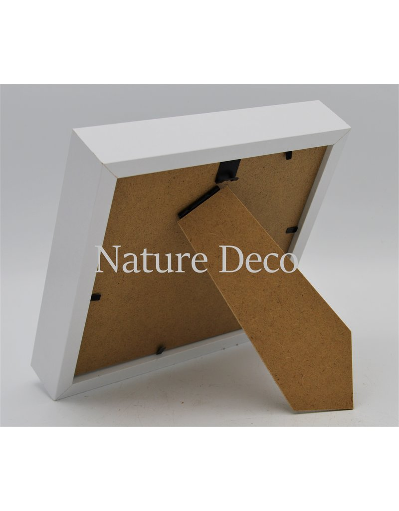 Nature Deco Luxe 3D lijst middel wit 17 x 17cm