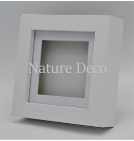 Nature Deco Luxury 3D frame small white