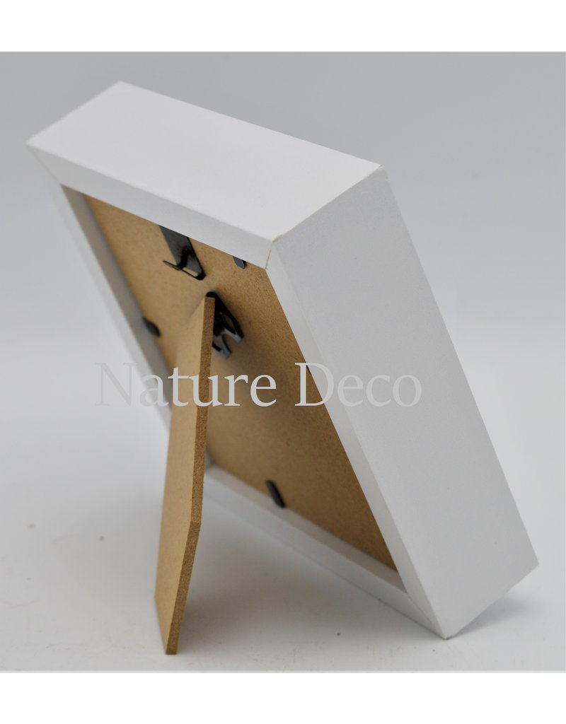 Nature Deco Luxury 3D frame small white 12 x 12cm