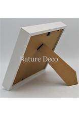 Nature Deco Luxe 3D lijst groot wit 22 x 22cm