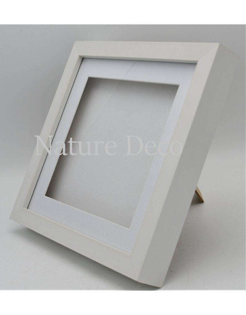 Nature Deco Luxury 3D frame large white 22 x 22cm