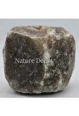 . Grijs / zwart zoutsteen waxinelichthouder