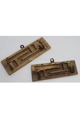 . Brick mold coat rack rectangle