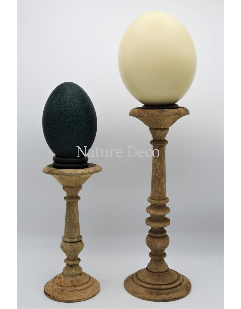 . Wooden candle stand  small blanco