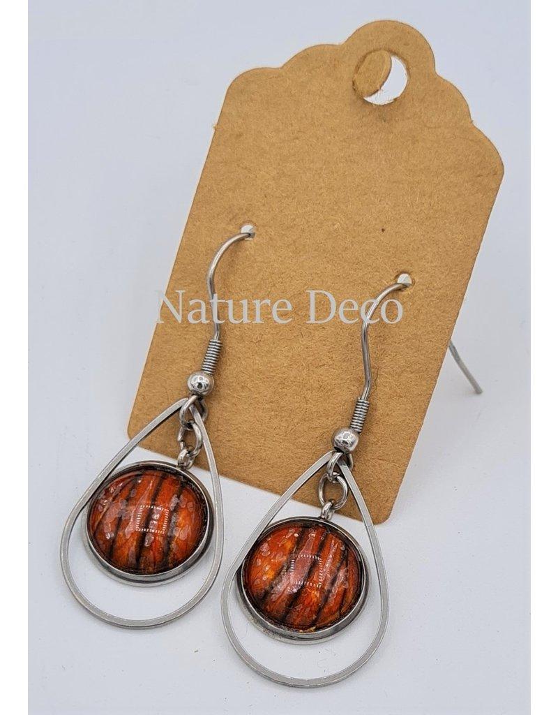Nature Deco Earring drop Nero