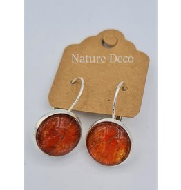 Nature Deco Earring hanging Nero