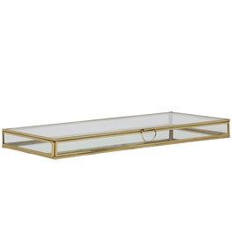 . Display box gold 40x18x3 cm