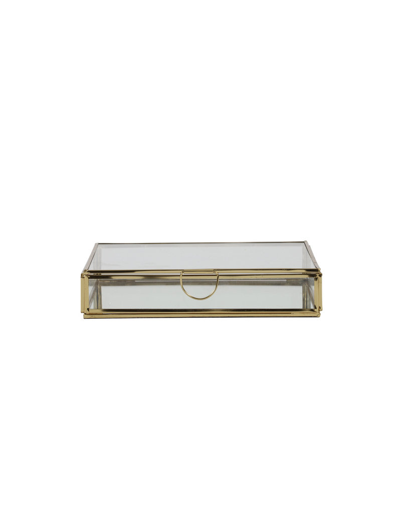 . Display box gold 20x20x4cm