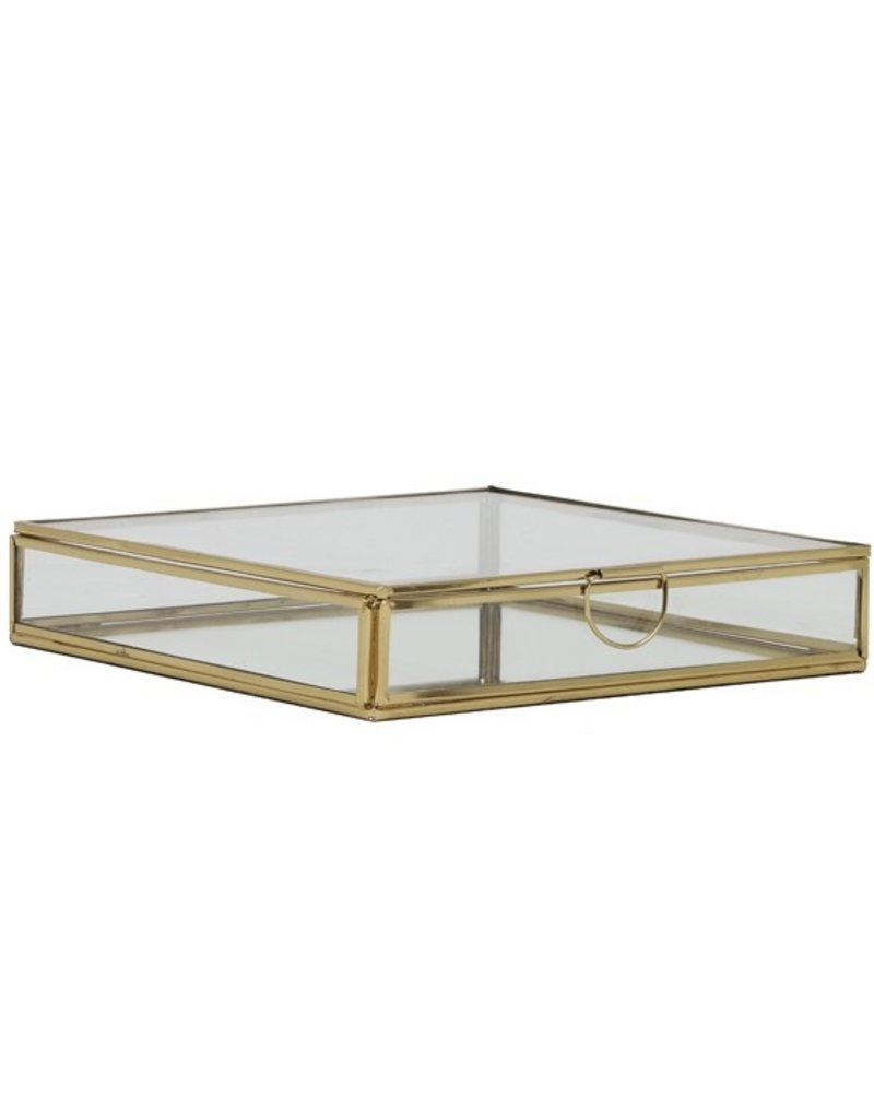 . Vitrine box goud 20x20x4cm