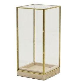 . Square glass dome gold