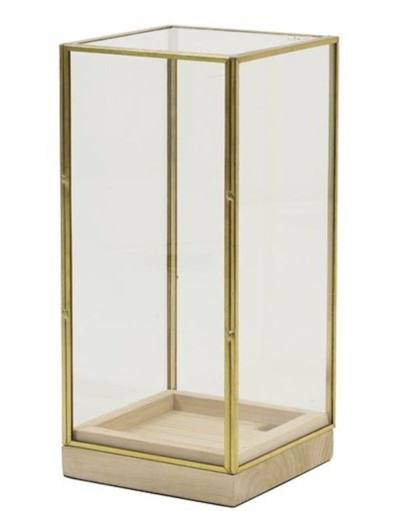 . Vierkante stolp goud 15x15x30 cm