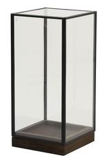 . Vierkante stolp zwart 15x15x30cm