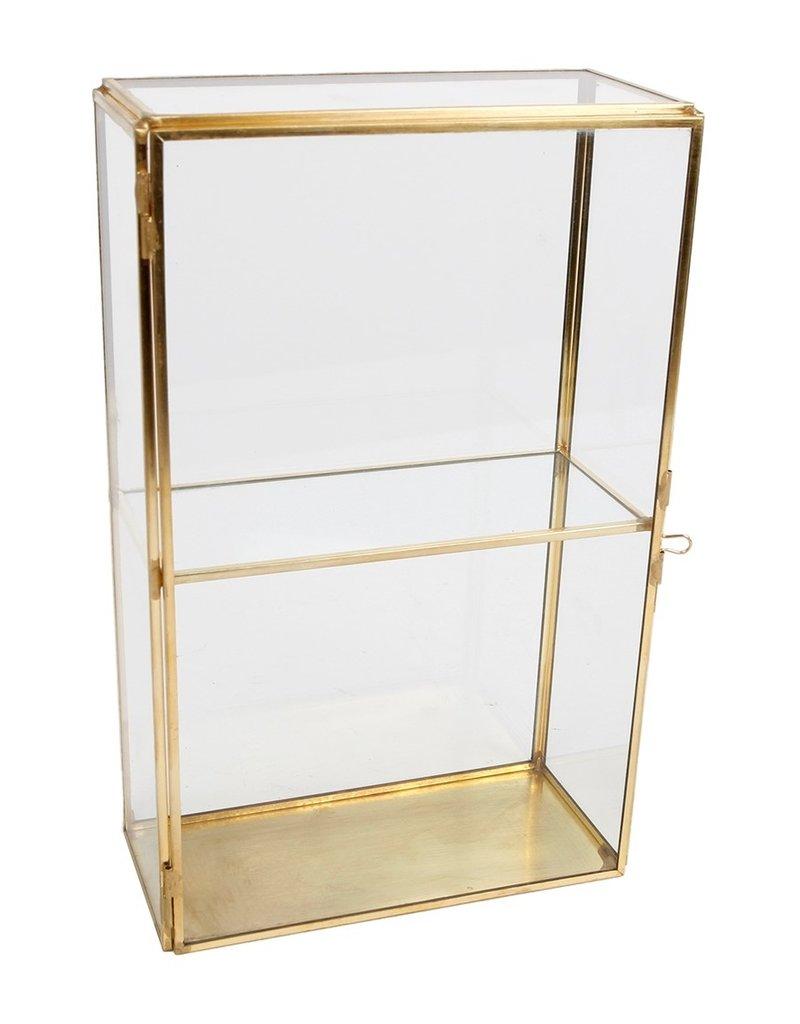 . Vitrine box duo goud  15x7x24cm