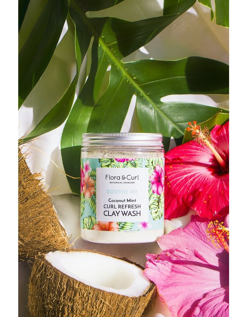 FLORA & CURL Coconut Mint Curl Refresh Clay Wash