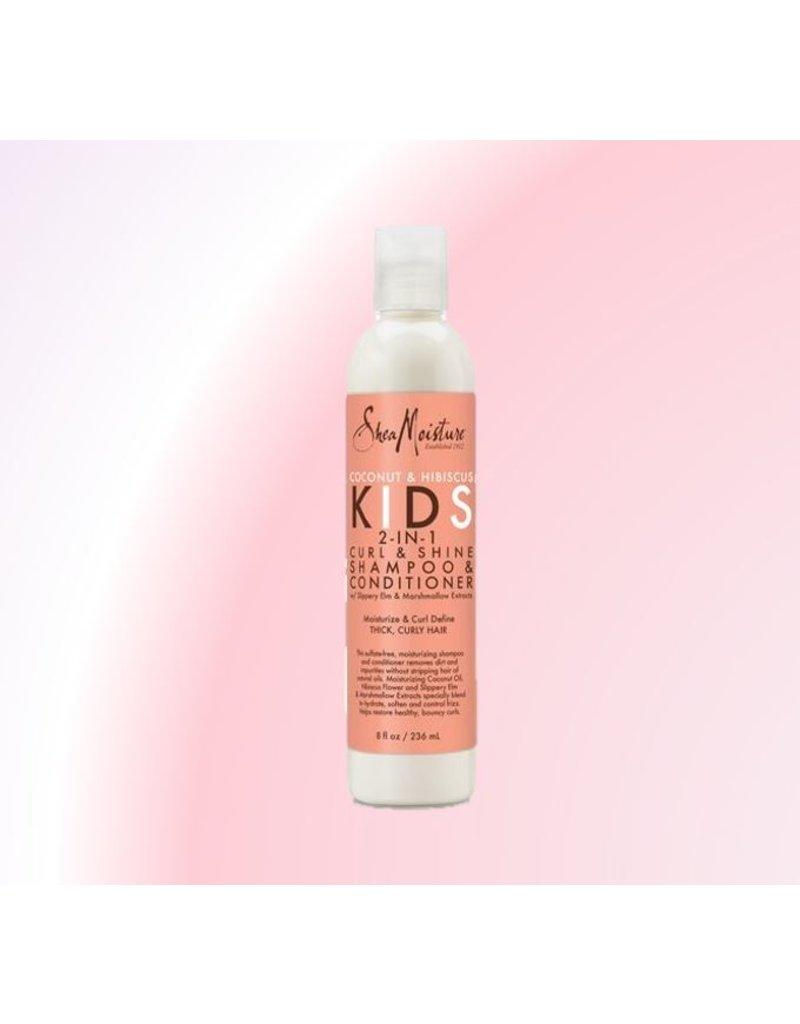 SHEA MOISTURE Coconut&Hibiscus Kids 2-in-1 Curl&Shine Shampoo&Conditioner
