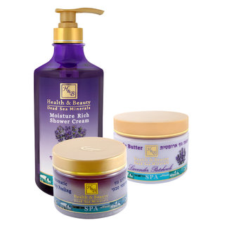 Dead Sea Body Gift Set - Of Your Choice : Shower Gel + Body Peeling + Body Butter