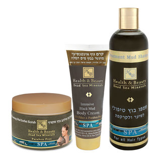 Mud Body Gift Set - Peeling + Body Cream + Shampoo